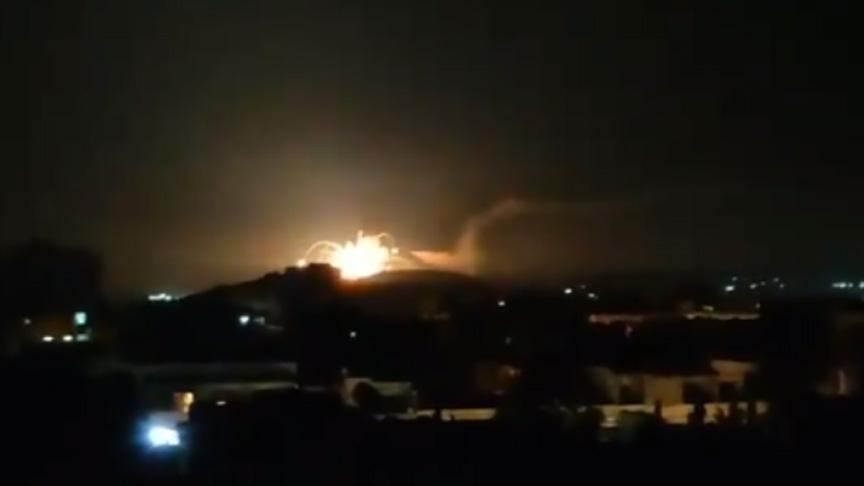 Terör devleti İsrail, Suriye'yi vurdu