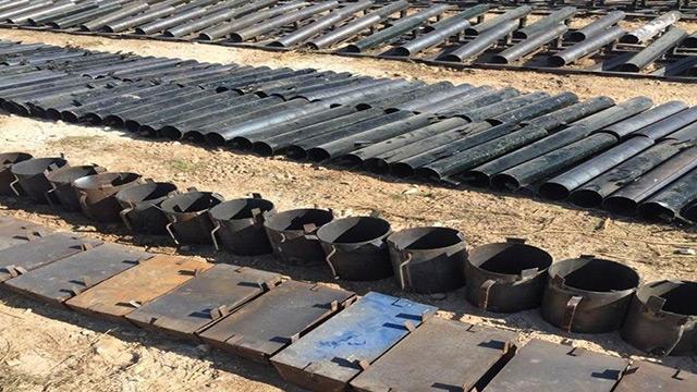 Terör örgütü PKK/YPG'nin imalathanesine baskın: 683 roket lançeri ve 93 EYP kabı ele geçirildi