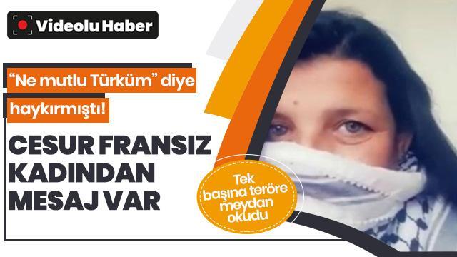 YPG/PKK'lıların yürüyüşüne tepki gösteren fransız kadından mesaj var