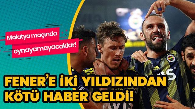 Fenerbahçe'ye iki yıldızından şok haber