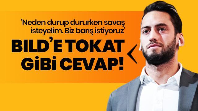 Hakan Çalhanoğlu'ndan Bilg Gazetesi'ne tokat gibi cevap: Biz barıştan yanayız