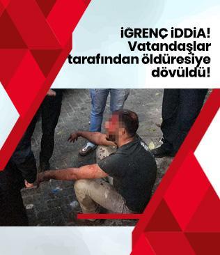 Beyoğlu'nda iğrenç iddia! Vatandaş duyunca öldüresiye dövdü