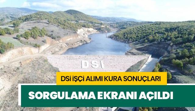 DSİ kura sonuçları açıklandı! DSİ işçi alımı kura sonuçları 2019 sayfası..