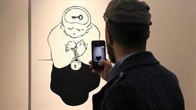 Hasan Aycın'ın 'Çizginin Ötesinde' sergisi açıldı