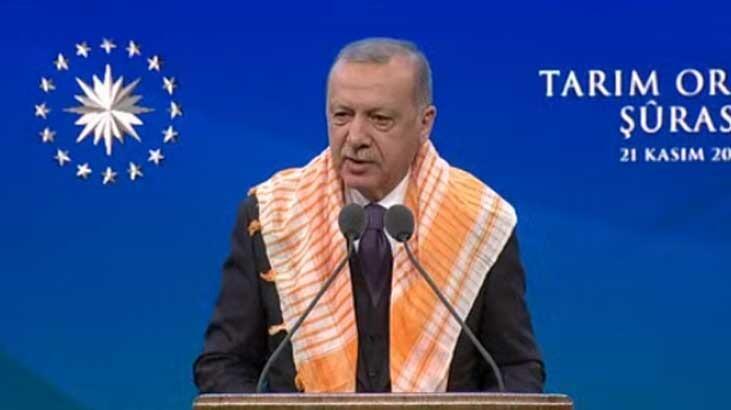 Başkan Erdoğan, 3. Tarım ve Orman Şurası'nda konuşuyor