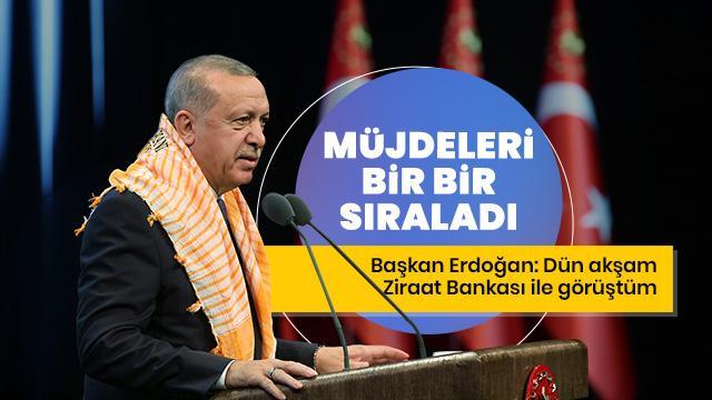 3. Tarım ve Orman Şurası'nda konuşan Başkan Erdoğan müjdeleri bir bir sıraladı