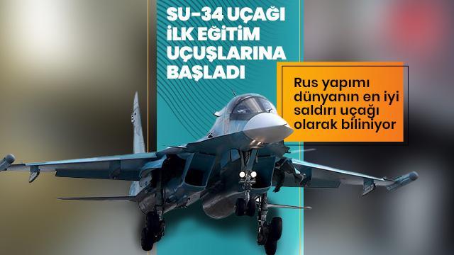 Su-34 uçağının ilk eğitim uçuşları başladı