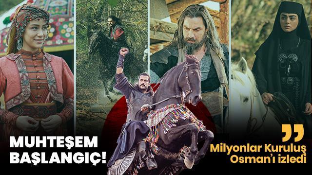 Milyonlar Kuruluş Osman'ı izledi