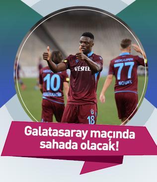 Caleb Ekuban'ın hedefi gelecek hafta oynanacak Galatasaray maçıyla sahalara dönmek