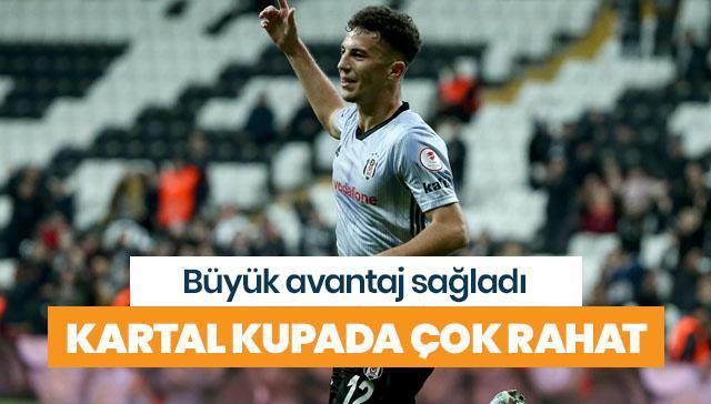 Beşiktaş kupada büyük avantaj sağladı
