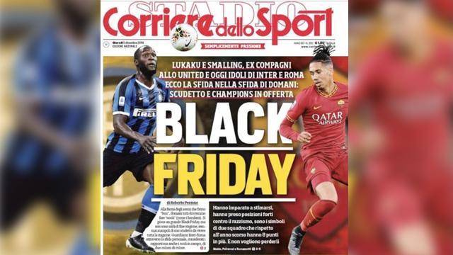 İtalyan gazetesinin skandal 'Black Friday' manşetine Roma ve İnter tepki gösterdi