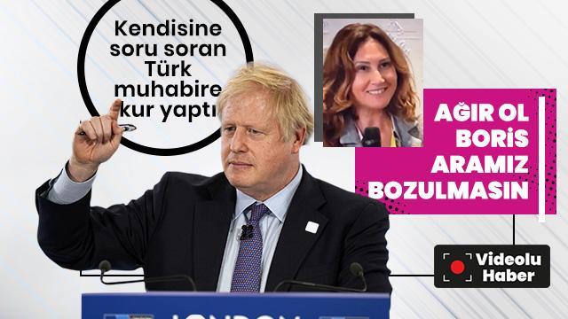 İngiltere Başbakanı Boris Johnson'ın Türk muhabire kur yaptı