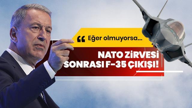 Bakan Akar'dan NATO zirvesi sonrası F-35 çıkışı