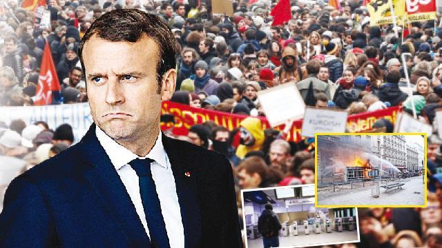 Macron'a karşı milyonlar sokakta