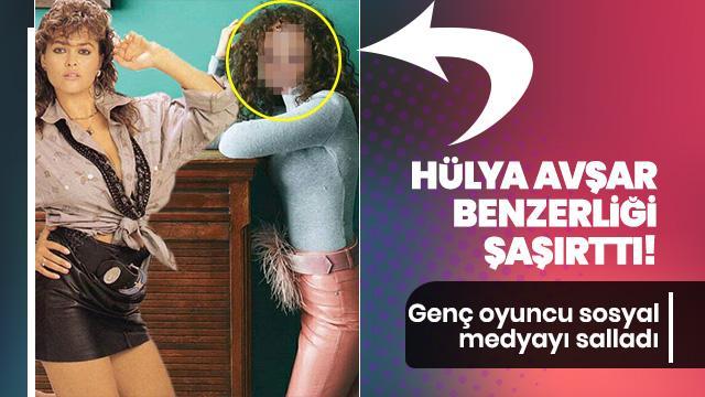 Hülya Avşar benzerliği şaşırttı! Genç oyuncu sosyal medyayı salladı