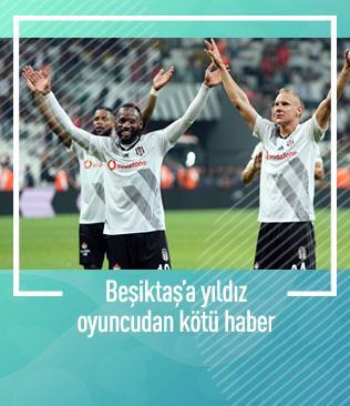 Beşiktaş'ta N'Koudou 15 gün sahalardan uzak kalacak