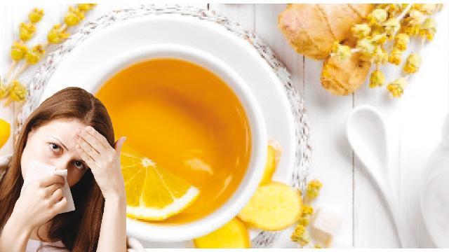 Soğuk algınlığına Limon çayı