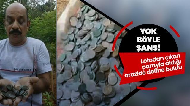 Şansın böylesi: Lotodan kazandığı parayla aldı, define buldu