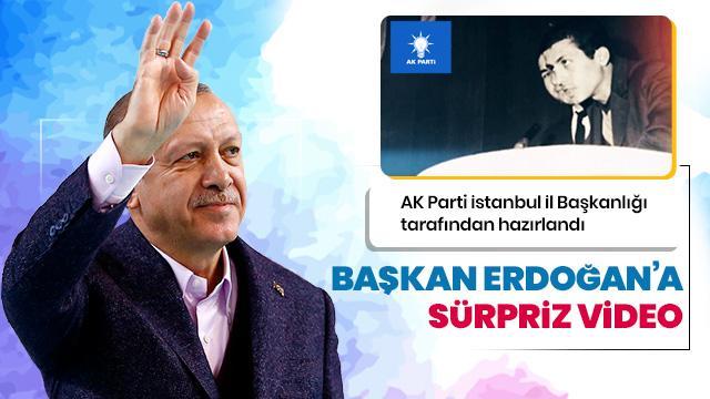 Başkan Erdoğan'a sürpriz video