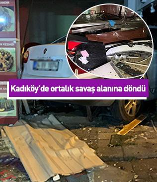 İstanbul'da otomobil lokantaya daldı