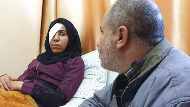 Filistinli Ruveyda, gösterileri izlerken İsrail ateşi sonucu gözünü kaybetti