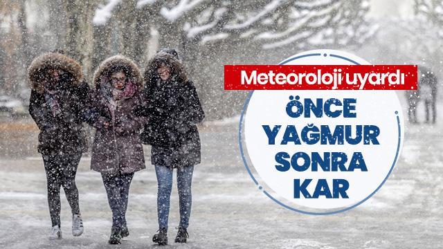 Meteoroloji'den 3 bölge için sağanak ve kar uyarısı
