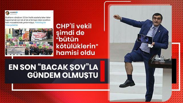 CHP'li vekilden protestocu tekelcilere tam destek!