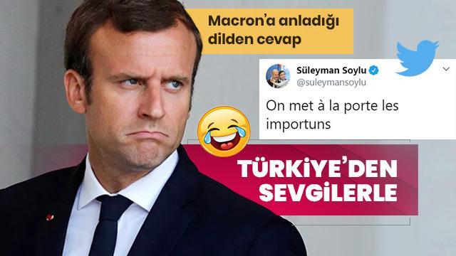 Türkiye'den Macron'a sevgilerle!