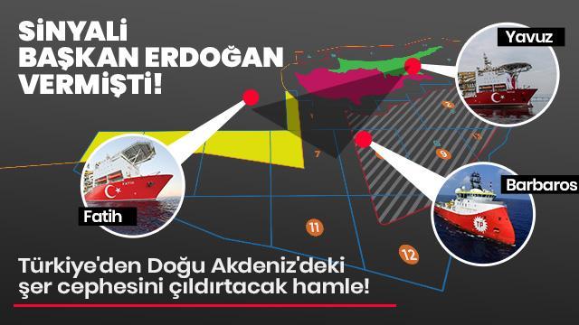 Türkiye'den Doğu Akdeniz'deki şer cephesini çıldırtacak hamle!