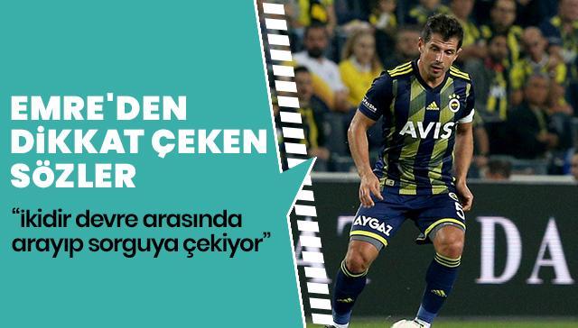 Emre Belözoğlu: İki maçtır oğlum Ömer Akif devre arasında arayıp beni sorguya çekiyor