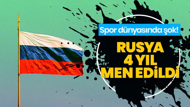 Spor dünyasında büyük şok! Rusya 4 yıl men edildi
