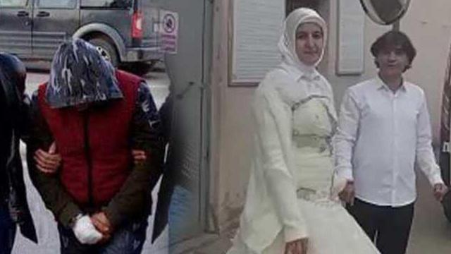 Gelinlikle karşılayan eşine şiddet uygulayan koca tutuklandı