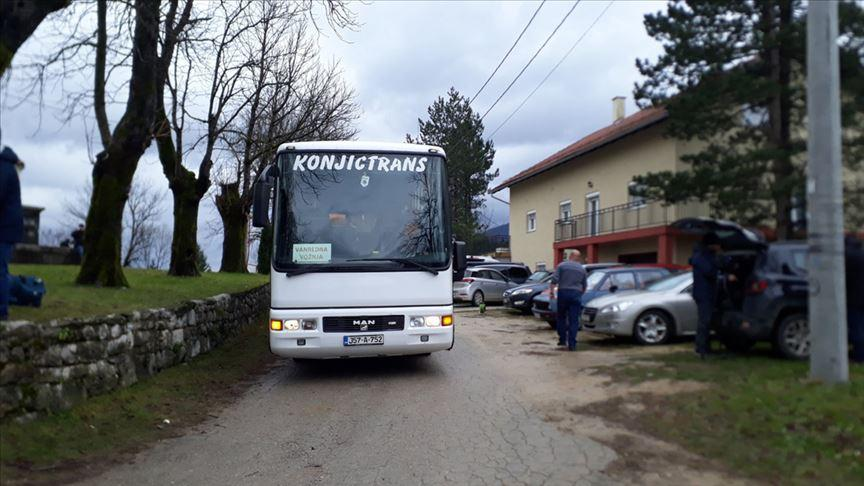 Bosna Hersek'teki Vucjak Kampı'nda kalan göçmenler taşınıyor