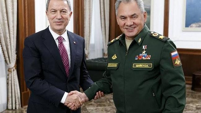 Bakan Akar, Rus mevkidaşı Şoygu ile görüştü