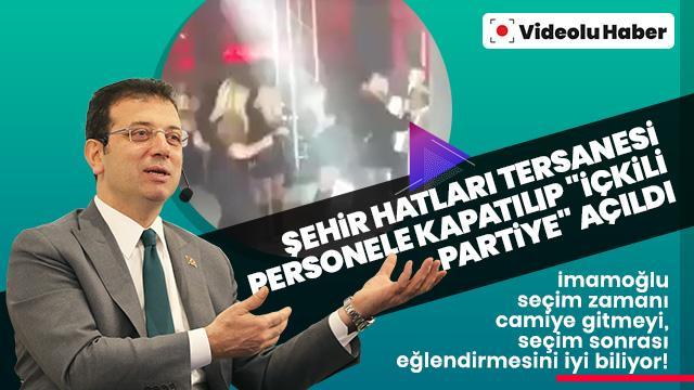 """Eski Türkiye hortladı! Şehir Hatları tersanesi personele kapatılıp """"içkili partiye"""" açıldı"""