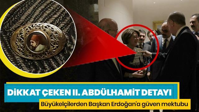 Meksika Büyükelçisi Hernandez, Başkan Erdoğan'a güven mektubunu sundu! Dikkat çeken II. Abdülhamit detayı