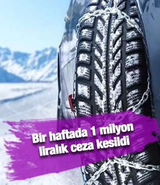 Tüm uyarılara rağmen takmayan sürücülere ceza yağdı: Bir haftada 1 milyon liralık ceza kesildi
