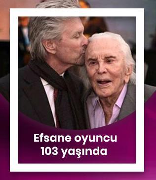 Efsane oyuncu Kirk Douglas 103 yaşında
