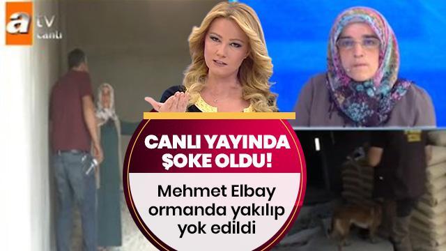 Müge Anlı canlı yayında şoke oldu! Mehmet Elbay ormanda yakılıp yok edildi