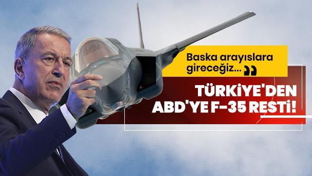 Milli Savunma Bakanı Akar: F-35 projesi dısında bırakılmamız halinde baska arayıslara gireceğiz