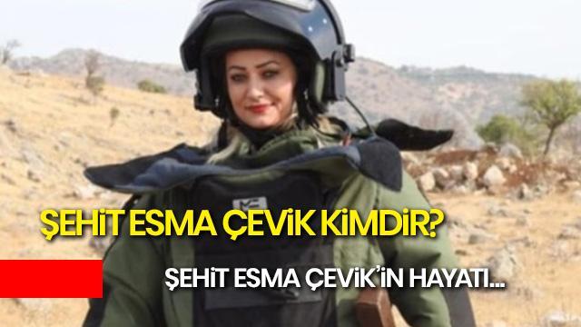 Şehit Esma Çevik kimdir? Esma Çevik evli miydi? Esma Çevik'in hayatı...