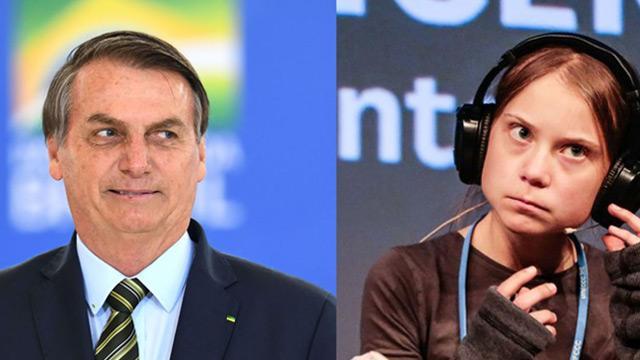 """Bolsonaro, Greta Thunberg'e """"velet"""" tabirini kullandı"""