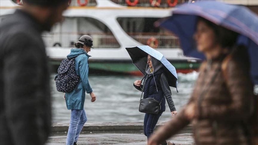 Marmara Bölgesi'nde öğleden sonra yağmur ve sağanak uyarısı