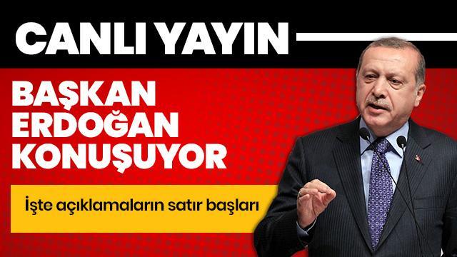 Başkan Erdoğan Kültür ve Sanat Büyük Ödülleri Töreni'nde konuşuyor