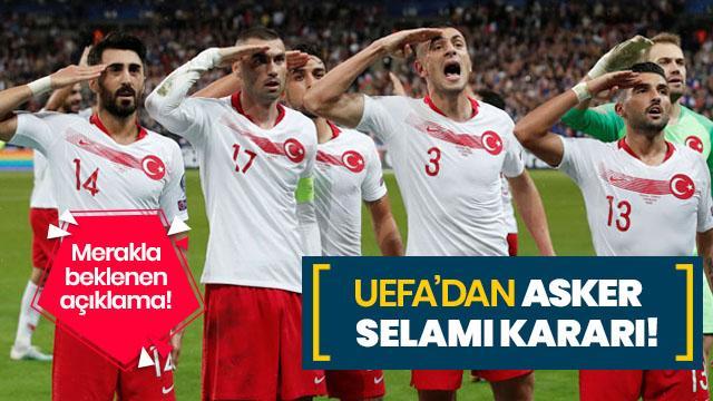 UEFA'nın asker selamı kararı belli oldu!