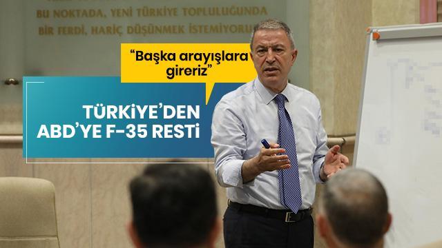 Milli Savunma Bakanı Akar: F-35 projesi dışında bırakılmamız halinde başka arayışlara gireceğiz