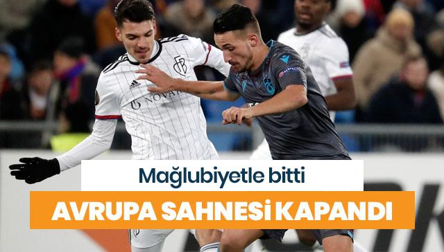 Trabzonspor'un Avrupa sahnesi kapandı