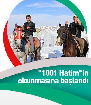 """Erzurum'un 5 asırlık geleneği """"1001 Hatim""""in okunmasına bugün başlandı"""