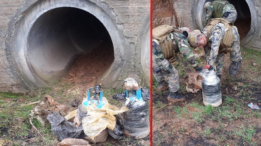 Mehmetçiğimiz Rasulayn'da menfez içerisine tuzaklanmış bombayı imha etti