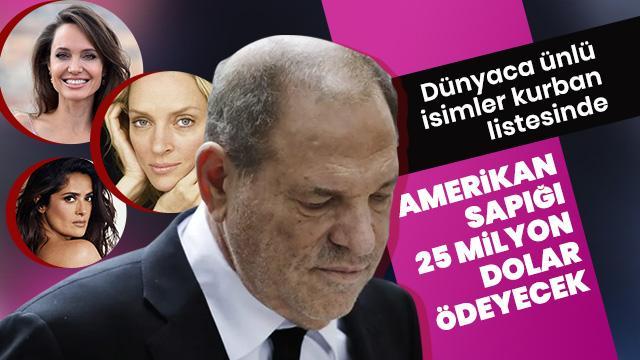 Sapık Harvey Weinstein'a şok: 25 milyon dolarlık uzlaşma